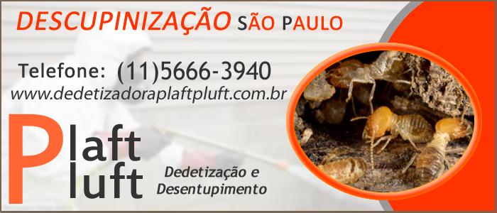 Descupinização 24 Horas São Paulo - Dedetizadora Plaft Pluft