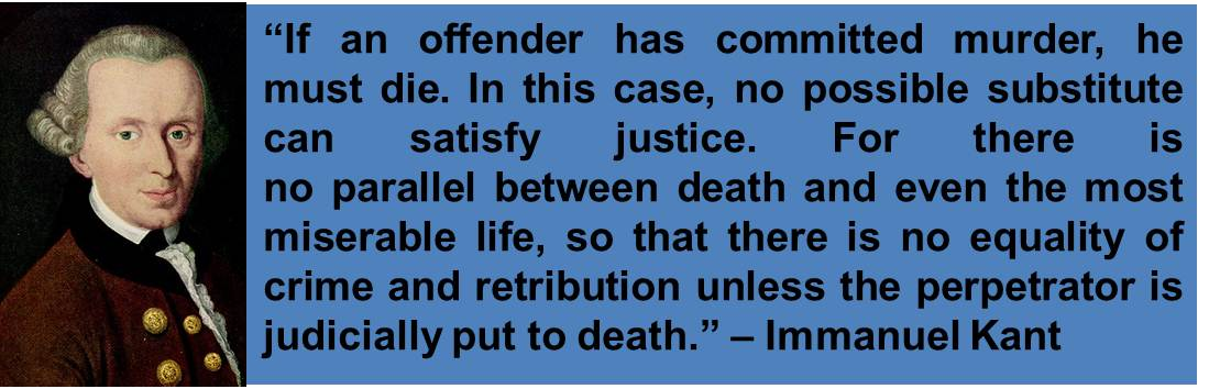 abwehr ier executioner pro lifer immanuel kant on immanuel kant on the death penalty article on the death penalty of the week sunday 10 2013 to saturday 16 2013