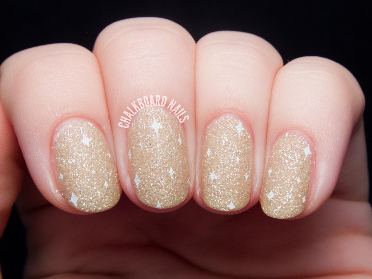 Subtle Glam - Zoya Godiva with Stamping | Chalkboard Nails | Nail ...