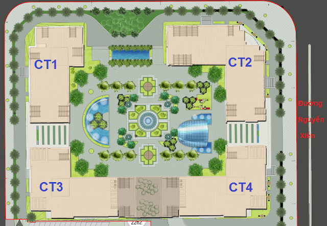 Phối cảnh tòa dự án Eco Green City