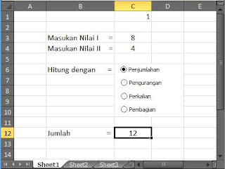 cara 5 Penomoran Dengan OPTION BUTTON pada Excel