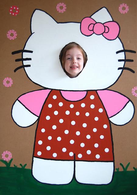 Para hacerse fotos de Hello Kitty. Fiestas infantiles.
