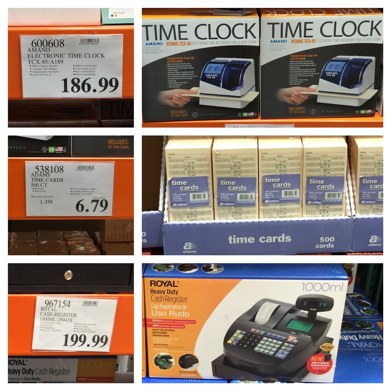 time card machine costco