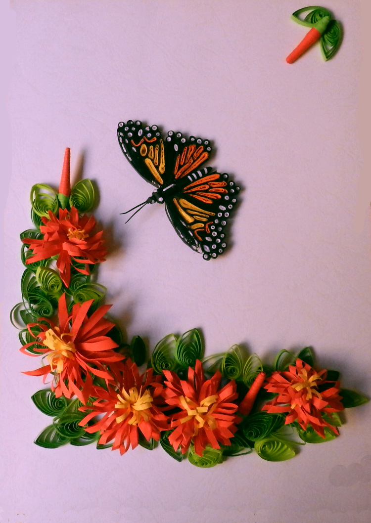 A Journey Into Quilling Paper Crafting Quilled Butterfly Flowers
