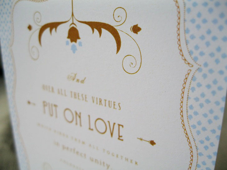 Ink Parade Paperie – Bible Verses for Wedding Invitation Cards