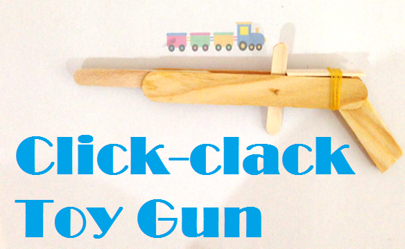 homemade toy gun from popsicles