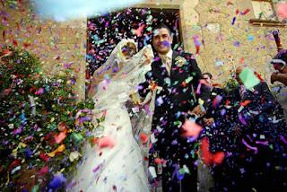 tirar confeti boda