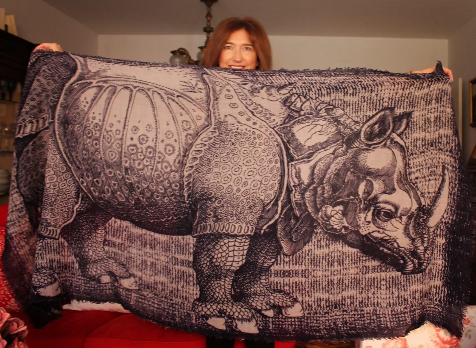 Estampado bufanda con rino