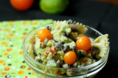 Lynsey Lou's: Southwestern Pasta Salad with Creamy Avocado Dressing