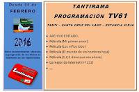TANTIRAMA PROGRAMACIÓN desde 06 de febrero 2016