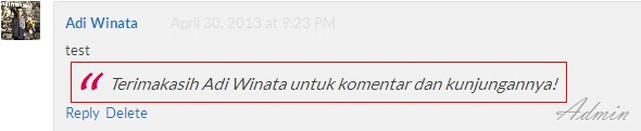 tutorial blog,komentar admin