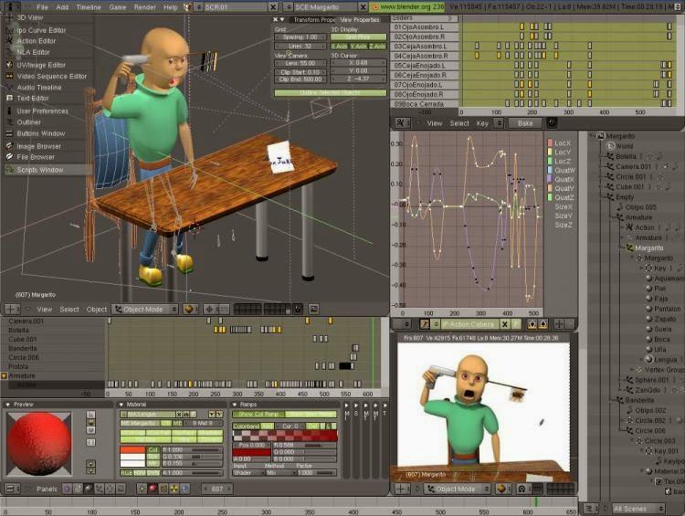 Blender لعمل صور ثلاثية الابعاد و الانيميشن