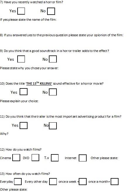 Jasminebridgerg324 Blank Questionnaire For Target Audience