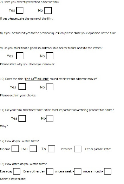 blank questionnaire template