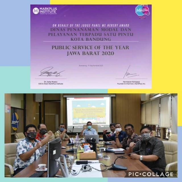 DPMPTSP Kota Bandung Kembali Raih Public Service of the Year Provinsi Jawa Barat