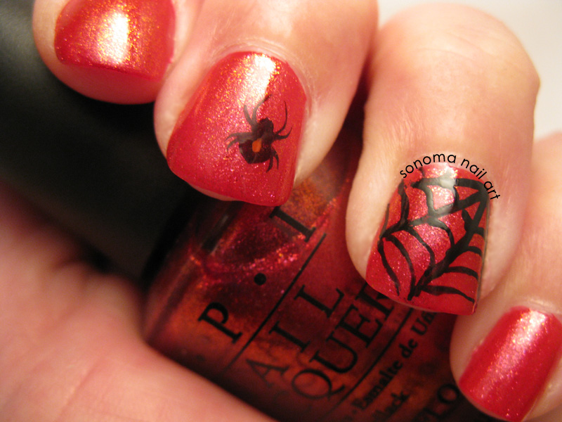 Sonoma Nail Art 31 Day Challenge Red