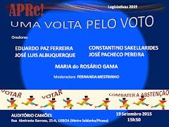 Uma volta pelo VOTO, sessão pública de esclarecimento promovida pela APRe! em Lisboa