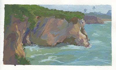 just came back from a painting trip up the coast, where I ended up