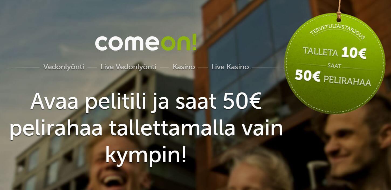 TALLETA 10€ JA SAAT ILMAISEKSI 50€