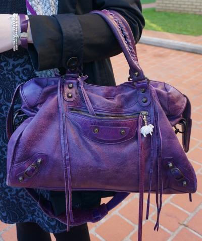Away From the Blue Balenciaga Sapphire City bag RH