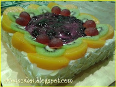 Fruits Flan Cakes.