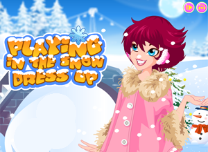 jogando na neve