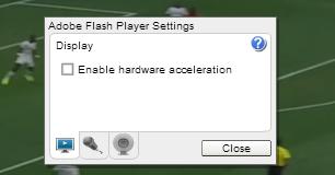 green screen flash videos disabling hardware acceleration
