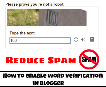 How to Enable Captcha/Word Verification in Blogger