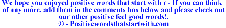 Image of Positive words that start with r - positivewordsthatstartwith.com