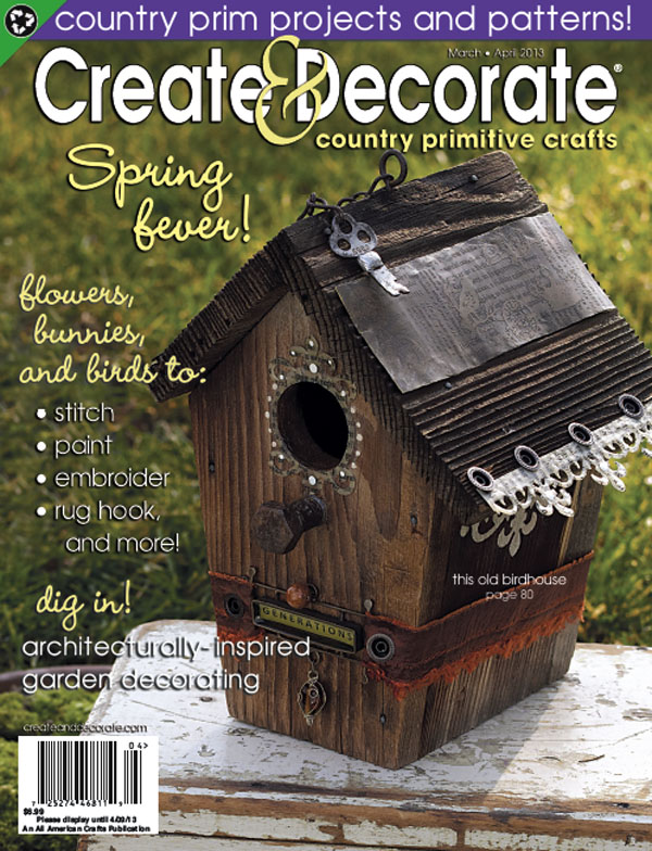 Victorian whimsies new project in create decorate for Create and decorate magazine free