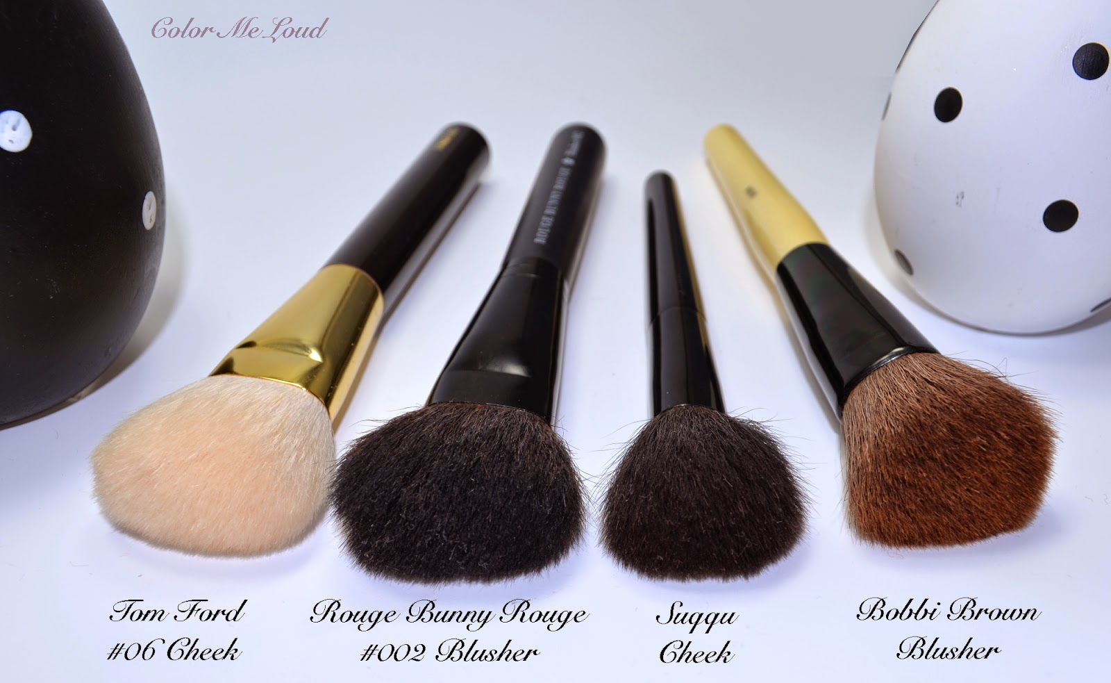 bobbi brown brushes price. rouge bunny blusher brush #002 vs. tom ford #06 cheek, suqqu cheek and bobbi brown brushes price