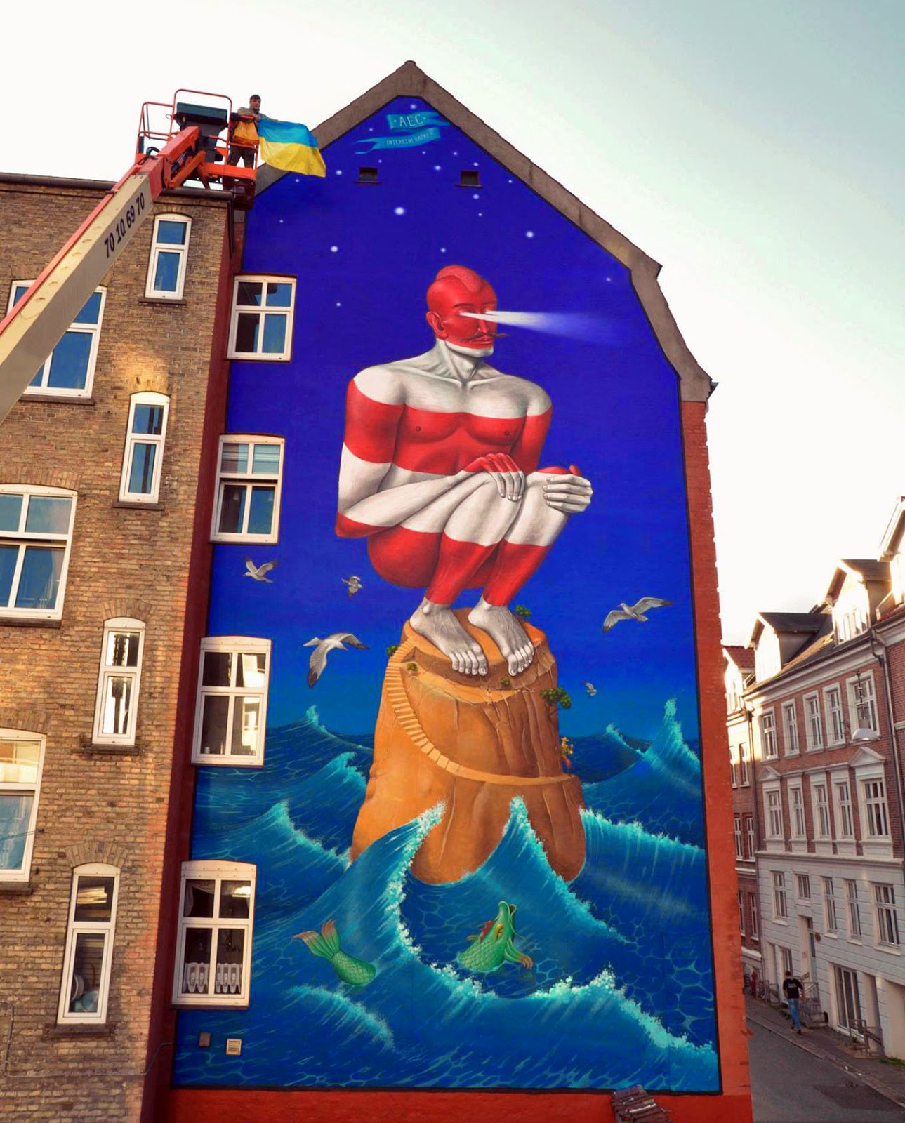 Interesni Kazki are currently spending a few days in Denmark where they were invited to paint for the first edition of the excellent We Aart Festival.