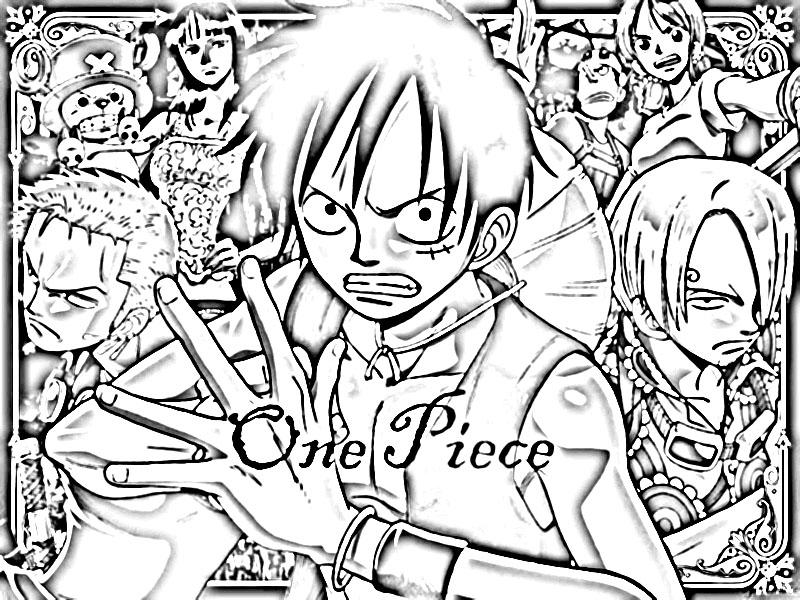 Kumpulan gambar mewarnai One Piece