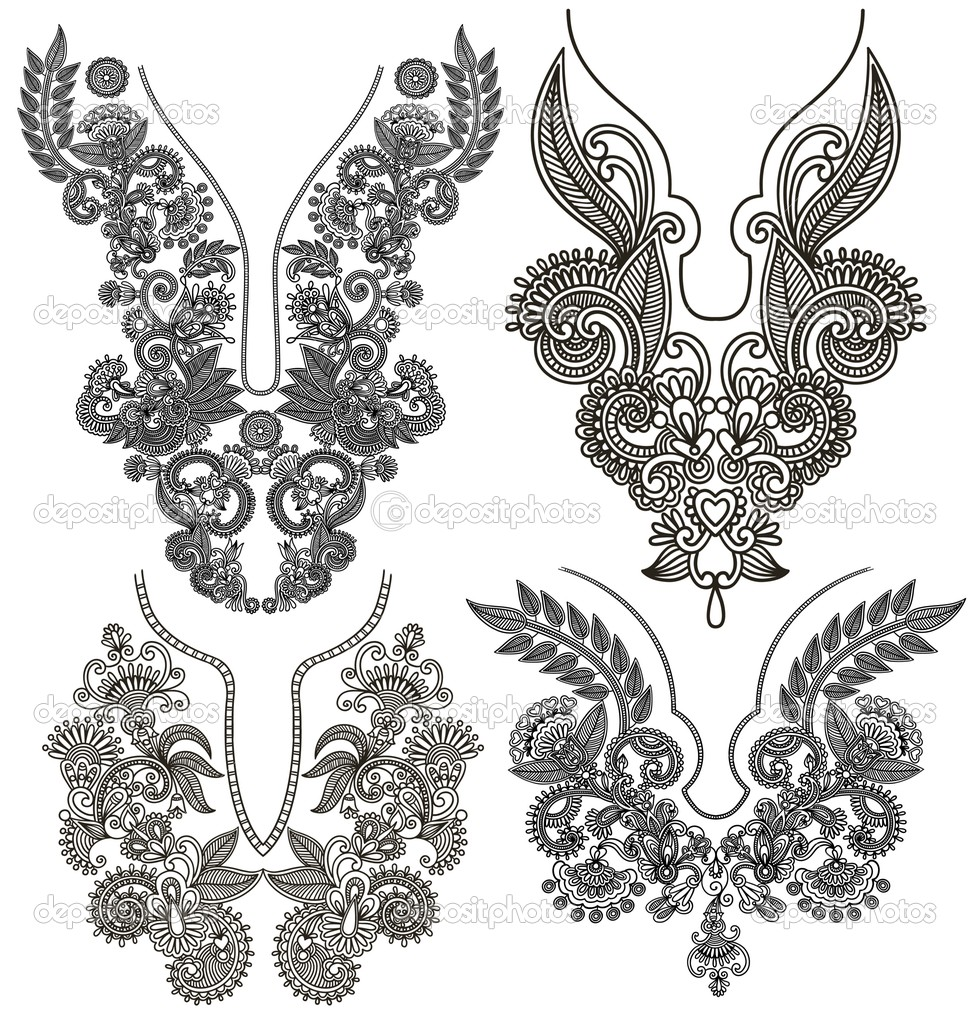Gallery For gt Simple Embroidery Designs Neck