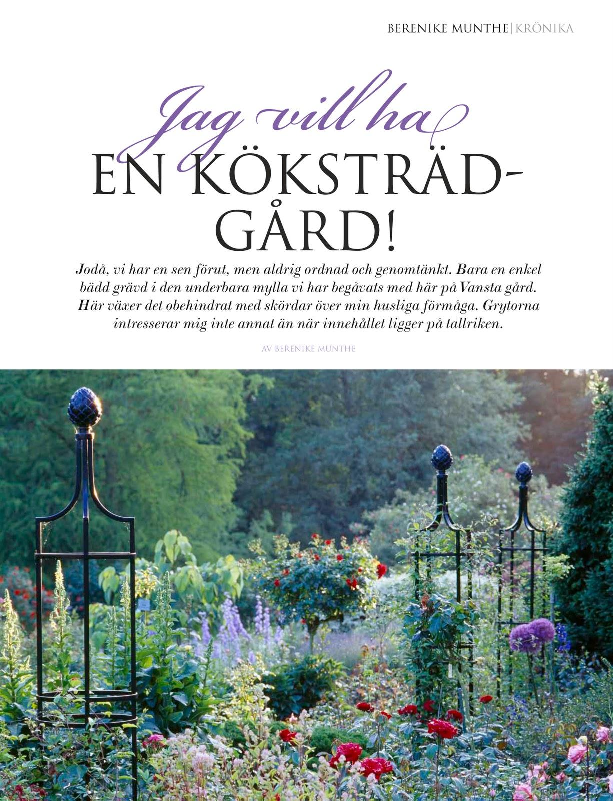 Bok Kokstradgard : inte skall man vol behova ett Versaille for att kunna njuta av ett