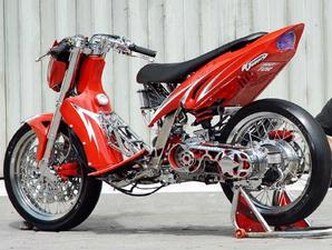 motorcycle modifications: MODIF YAMAHA 135 DRAG