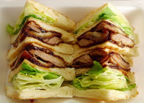 Roast Duck Sandwich with Lettuce and Mayonnaise