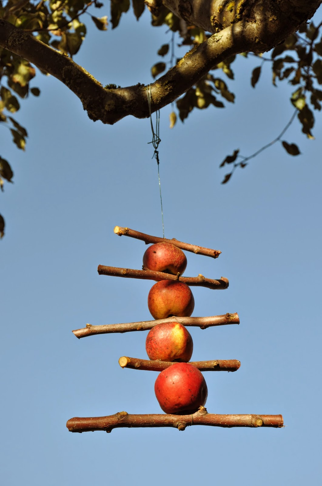 Herbst-Deko | DIY Apfel-Mobile im Apfelbaum
