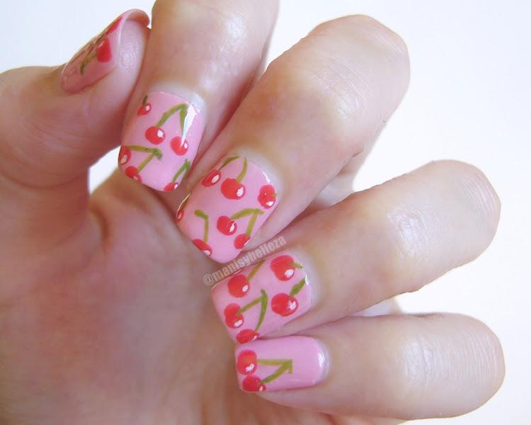 Nail art de Cerezas, Cherry nails
