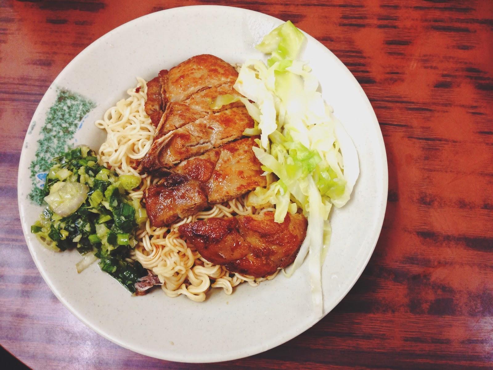 Lan Fong Yuen HK Pork Chop Spring Onion Noodles
