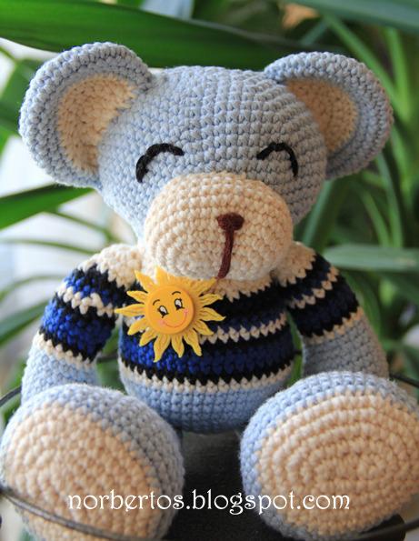 Grey Bear Amigurumi Crochet Pattern : Crochet bears Blue and Pink Sweet crocheting time