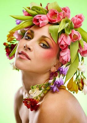 Rostros de mujeres con flores - Belleza femenina - Beauty