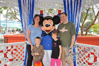 The Codellas with Mickey Mouse - April 2011