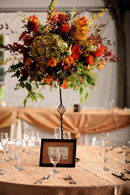 Fall Wedding Flower Centerpieces