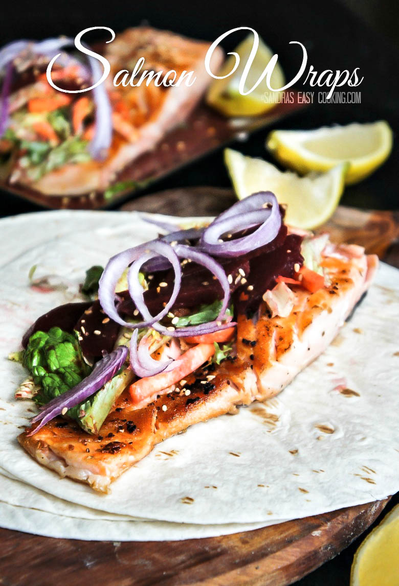 Simple Salmon and Salad Wraps #healthy #food #recipe