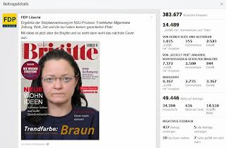 Beate Zschäpe auf Brigitte-Cover