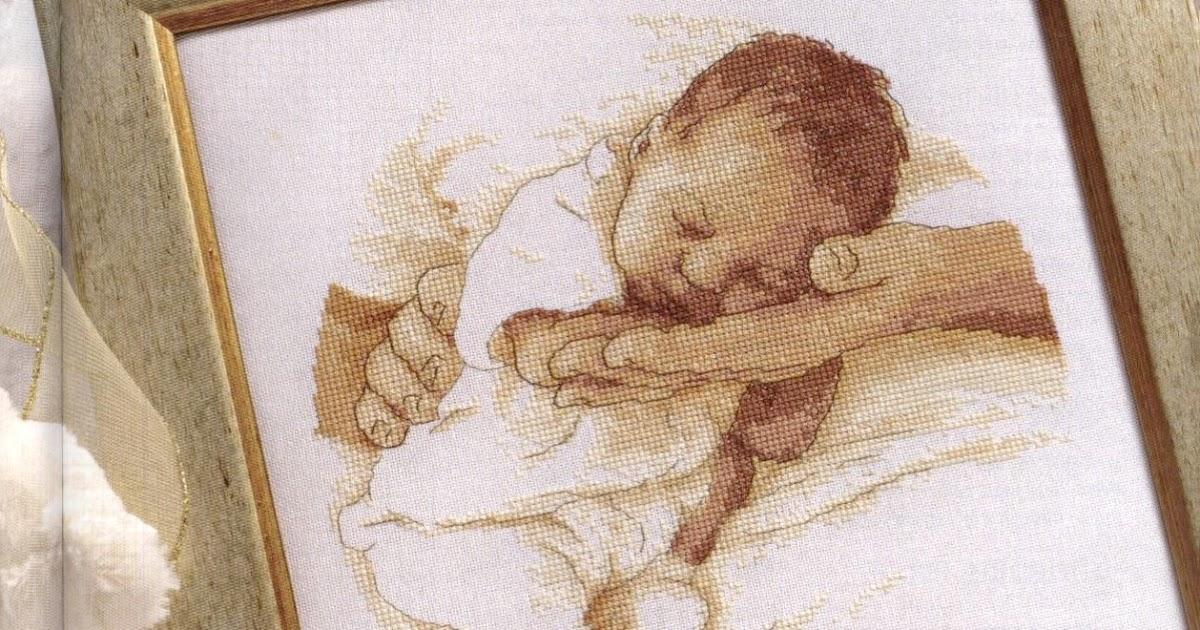 Quadro mamma e bambino a punto croce schemiapuntocroce for Idee punto croce bimbi