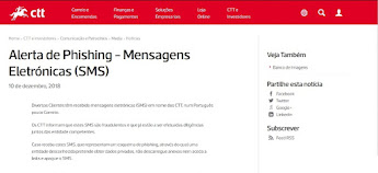 CTT alertam para falsos SMS