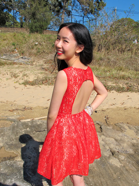 {Festive Lace} ASOS red lace dress perfect for Christmas parties on petiteplayground.blogspot.com