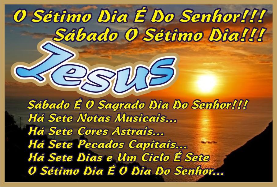 Sábado É O Dia do Senhor